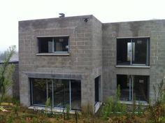 Small House Interior Design, House Front Design, Cool House Designs, Modern House Design, Cinder Block House, Modern House Facades, House Construction Plan, Simple House Plans, Model House Plan