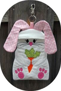 Oh my goodness! How cute is this little bunny zipper case by Embroidery Garden?
