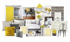 Love this Sunny Yellow and Grey Palette
