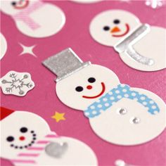 Christmas stickers from Japan Santa Claus Snowman