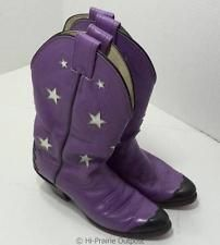 Olathe Boot Company Womens Purple Cowboy Boots Size 5 C