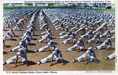 Vintage navy boot camp postcard #navy #sailor
