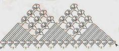Gráfico Barrado de Crochê! Crochet Borders, Crochet Chart, Crochet Stitches, Crochet Dollies, Crochet Curtains, Diagram, Etsy, Knitting, Sewing