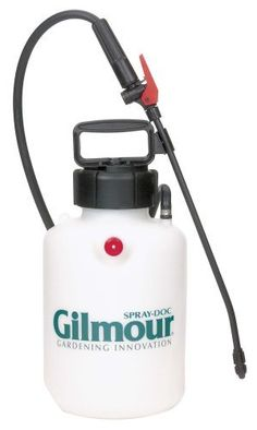 "Gilmour Multi-Purpose Sprayer 1 Gallon Capacity 101P White by Gilmour. $24.93. Flexible 16"" rotating polymer wand with adjustable polymer nozzle; 33 inch PVC hose. From the Manufacturer                Gilmour's multi purpose sprayers can be used for so many jobs around the home and garden.  Fertilizing, treating weeds, applying deck stains, stripping wallpaper ¿ there¿s no end to the jobs made easier with a Gilmour sprayer.                                    Pro..."
