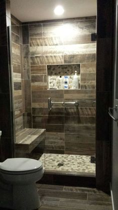 20 Amazing Bathrooms With Wood-Like Tile | Modern shower, Woods and ...