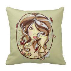Serenity Fairy Art Throw Pillow