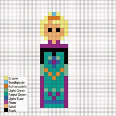 Perler Mania: Disney Princess: Elsa from Frozen
