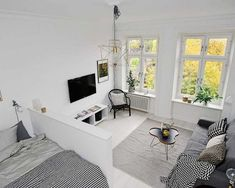 Studio Apartment Efficiency Design Ideas with The Advantages - Amazing One Room Apartments That You Will Have To See
