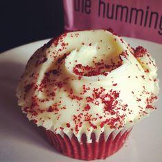 Hummingbird red velvet cupcake