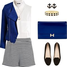 Brunch in a yacht by mara-montandon on Polyvore featuring polyvore fashion style H&M A|Wear Emma Cook Witchery Hermès Kate Spade