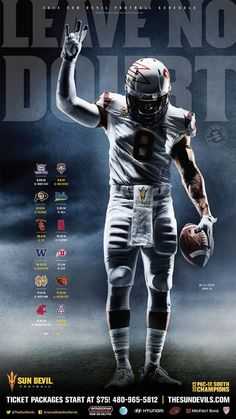 DJ Foster graces an ad about Sun Devil tickets. Fitting for the local guy who stayed home to play for the Arizona State Sun Devils. Football Images, Football Design, Football Art, Football Pictures, Football Helmets, College Football Schedule, Football Ticket, Football Poses, Boy Senior Portraits