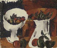 Coupe de fruits et broc, ca 1919, Andre Derain