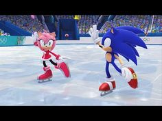 Mario and Sonic at the Sochi 2014 Olympic Winter Games Figure Skating Pairs Gameplay Sonic and Amy figure skating in Mario & Sonic at the Sochi 2014 Olympic . Sonic And Amy, Sonic Boom, Video Game Characters, Disney Characters, Sonic Unleashed, Winter Games, Wii U, Olympic Games, Figure Skating