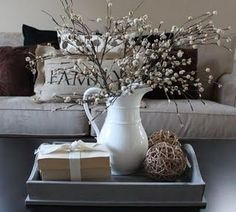 Table Decor for Living Room . 35 Lovely Table Decor for Living Room . 20 Super Modern Living Room Coffee Table Decor Ideas that Will Amaze You Decoration Shabby, Decoration Table, Centerpiece Ideas, Kitchen Table Centerpieces, Diy Table, Vase Ideas, Wood Table, Coffee Table Styling, Decorating Coffee Tables