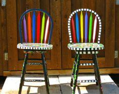 Aangepaste Handpainted meubilair van dannimacstudios op Etsy