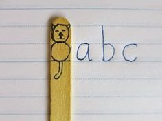 .This 'Clever Cat' assists children to write on the correct lines (Dotted Thirds here in VIC) Very cheap and easy to implement.