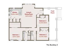 Two bedroom house  House plans and Large bathrooms on PinterestBungalow House Plans  Small House Plans  Green Home Plans  Small Home Plans