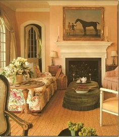 Eye For Design: Decorate Your Home In English Style...equine is a big part of their decor