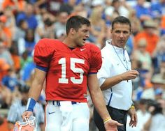 Tim Tebow and Coach Urban Meyer