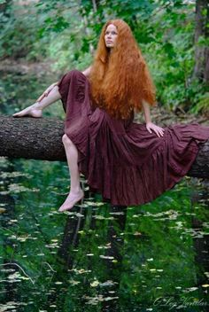 #beauty #forest #river #girl #redhead #meditative