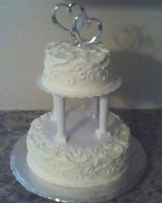White Almond Sour Cream Wedding Cake Recipe - Food.com: Food.com
