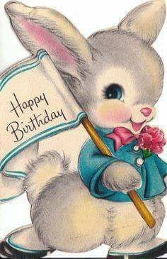 Oh I'm sure I received this one as it often fell on Easter Sunday Happy Birthday 1, Happy Birthday Vintage, Happy Birthday Wishes Cards, Kids Birthday Cards, Happy Birthday Images, Birthday Greeting Cards, Card Birthday, Birthday Pictures, Funny Birthday