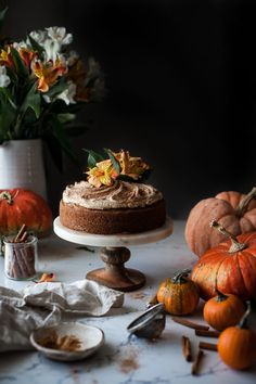 One-bowl Zucchini Pumpkin Cake + Brown Butter Frosting - The Kitchen McCabe