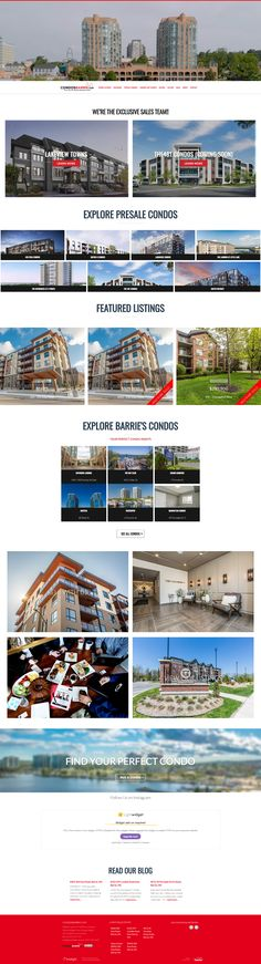 Action-packed home page for Condos Barrie. Uses the Ubertor mobile-ready, responsive CMS Website Designs, Condos, Custom Design, Finding Yourself, Real Estate, Action, Explore, Real Estates, Group Action