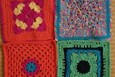 22 Granny Squares from Germany