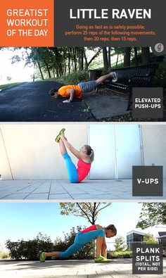 Greatist Workout of the Day: Little Raven #bodyweight #workout #fitness