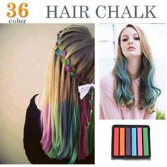 6 Colors Non-toxic Temporary Hair Chalk Dye Soft Pastels Salon Kit Show Party >>> Want additional info? Click on the image.