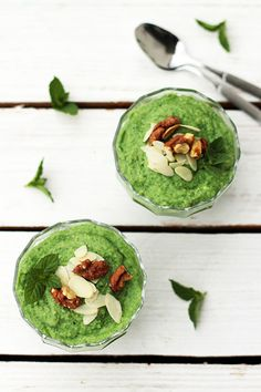 Millet pudding with banana and spinach Slow Food, Avocado Toast, Guacamole, My Recipes, Spinach, Food And Drink, Gluten Free, Pudding, Banana