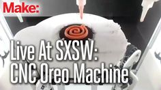 """What's cooler than a machine that creates custom Oreo cookies on-demand? Seeing how it how it all works inside. MAKE's Matt Richardson takes a peek behind the scenes of Oreo's Raspberry Pi-powered """"Trending Vending"""" machine at SXSW Vending Machine, Cnc Machine, Twitter Trending, What's Trending, Oreo Cream, Raspberry Pi Projects, Oreo Cookies, Advertising, Ads"""