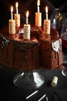 Pin for Later: 50 Dark, Rich, and Totally Indulgent Chocolate Cake Recipes Chocolate Red Wine Chiffon Cake Get the recipe: chocolate red wine chiffon cake