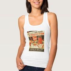 Vintage Air Raid Protection Defense WPA Poster Tshirt Tank Tops