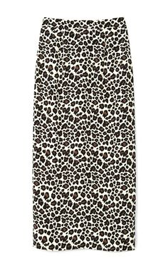 Kapka Heavy Crepe Skirt In Leopard by Mother of Pearl for Preorder on Moda Operandi