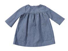 Linen dress on Burda Style baby to 3 yo