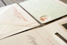 Oh So Beautiful Paper: Margie + Morgen's Art Deco-Inspired Letterpress Wedding Invitations