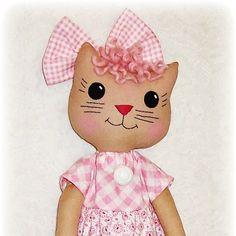 Kitty Cat Softie patrón patrón de costura PDF muñeca suave