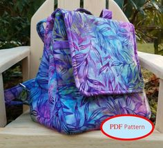 The Uptown Sass Backpack – Sew and Sell! A PDF Sewing Pattern from Kindred Quilters Backpack Pattern, Pdf Sewing Patterns, Sewing Ideas, Sewing Projects, Craft Patterns, Sewing Tips, Sewing Hacks, Cute Backpacks, New Shape