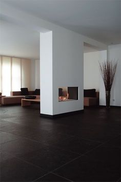 Want to know more about FOOGO? Visit us at foogo. Want to know more about FOOGO? Visit us at foogo. Home Fireplace, Modern Fireplace, Fireplace Design, Fireplaces, Chimenea Simple, Home Interior Design, Interior Architecture, Flur Design, Double Sided Fireplace