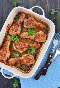 Kurczak+pieczony+w+miodowo-musztardowej+marynacie+(pałki+z+kurczaka):+Kurczak+pieczony+w+miodowo-musztardowej+marynacie+to+przepis+nie+tylko+na...