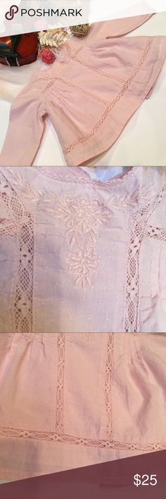Zara Baby lace top Soft Pink gorgeous vintage inspired lace top. Super soft for baby 👶🏻. Zara Shirts & Tops Blouses