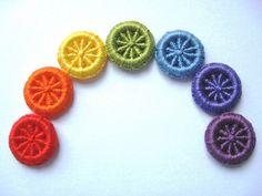 Dorset button rainbow.