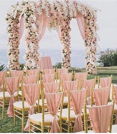 dreamy wedding set up
