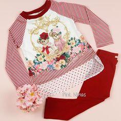 79afe955b8  Conjunto  infantil de  festa off white e  vermelho  PetitCherie de