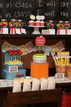 Back to School Party - I like this idea. I think it will be cute for a few years down the road.