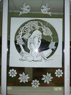 Украшение 8 марта Вырезание 8 Марта Бумага фото 4