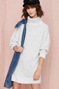 Nasty Gal Adrianne Sweater Dress