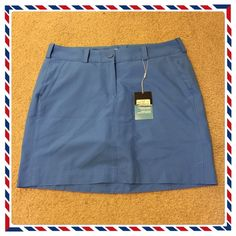 "NWT Very Pretty Nike Golf Dri-Fit Skort. New never been used Blue Nike Golf Tour performance Dri-Fit Skort. Size 10. 18"" Length with 2 side pockets & 2 back pockets. Nike Skirts"